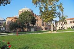 Старая византийская церковь Святого Ирена, Стамбула стоковая фотография