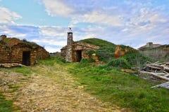 Старая винодельня в провинции Zamora Испании стоковое фото