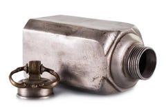 Старая винтажная бутылка металла Стоковое Изображение