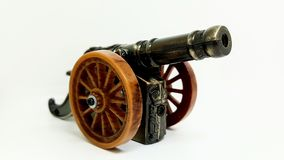Старая винтажная игрушка карамболя на белой предпосылке Стоковое Изображение