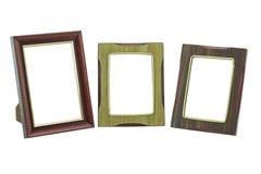 Старая/винтажная картинная рамка на изолированной белой предпосылке Стоковая Фотография