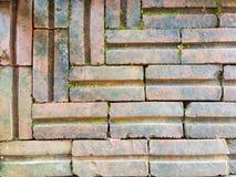 Старая винтажная кирпичная стена Стоковые Изображения