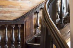 Старая винтажная лестница Тип XIX век стоковое изображение