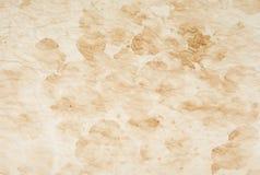 Старая, винтажная пакостная бумага с запятнанной текстурой для предпосылок Стоковое Изображение