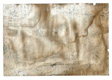 Старая винтажная пакостная сорванная книга пустой страницы на белизне Стоковое Фото