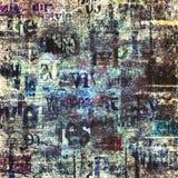 Старая винтажная предпосылка текстуры газеты grunge стоковые изображения