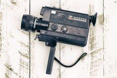 Старая винтажная сетноая-аналогов покрашенная чернота видеокамеры стоковое фото