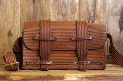 Старая винтажная сумка стоковые фотографии rf