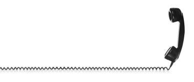 Старая винтажная черная телефонная трубка Стоковое Фото