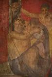Старая вилла в пределах структуры тайн раскопок Помпеи Стоковые Фото