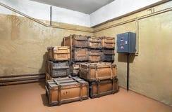Старая воинская деревянная коробка Стоковые Изображения