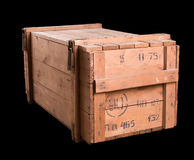 Старая воинская деревянная коробка стоковые изображения rf