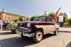 Старая восстановленная модель Moskvitch 407 автомобиля на выставке vintag Стоковое фото RF