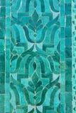 Старая восточная мозаика в зеленых цветах Стоковое фото RF