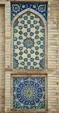 Старая восточная мозаика на стене, Узбекистан Стоковые Фотографии RF