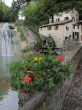 Старая водяная мельница в севере Италии стоковая фотография