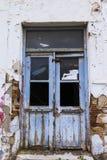 Старая выдержанная дверь стоковое фото rf