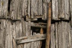 Старая выдержанная деревянная текстура стены Стоковое фото RF