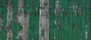 Старая выдержанная естественная деревянная текстура части предпосылки Деревенская деревянная Debarked картина зеленого цвета текс Стоковая Фотография RF
