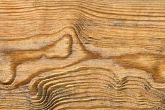Старая выдержанная завязанная залакированная деталь текстуры Grunge планки сосновой древесины Стоковое Изображение RF