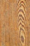 Старая выдержанная завязанная залакированная деталь текстуры Grunge планки сосновой древесины Стоковая Фотография