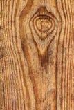 Старая выдержанная завязанная залакированная деталь текстуры Grunge планки сосновой древесины Стоковые Изображения RF