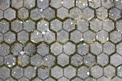 Старая вымощая текстура Стоковые Фото