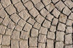 старая вымощенная каменная улица Стоковая Фотография RF