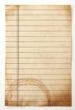 Старая выровнянная бумага Стоковые Фото