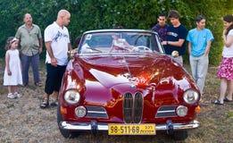 Старая выставка автомобиля стоковые фотографии rf