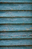 Старая высушенная треснутая зеленая краска Стоковая Фотография