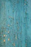 Старая высушенная треснутая зеленая краска стоковая фотография rf