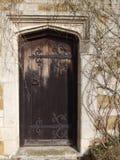Старая выдержанная деревянная дверь Стоковые Изображения RF