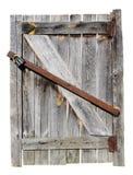 Старая выдержанная деревянная дверь Стоковые Изображения