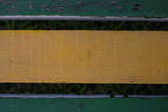 Старая выдержанная деревянная текстура стелюги стула Деревянные предкрылки Стоковая Фотография RF