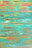 Старая выдержанная покрашенная древесина от стула Стоковая Фотография