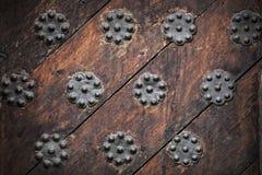 Старая выдержанная текстура предпосылки двери Стоковое Изображение