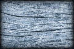 Старая выдержанная треснутая завязанная текстура Grunge Vignetted деревянных окисей кобальта деревенская грубая Стоковые Фотографии RF