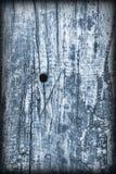 Старая выдержанная треснутая завязанная текстура Grunge Vignetted деревянных окисей кобальта деревенская грубая Стоковое фото RF