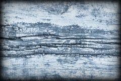 Старая выдержанная треснутая завязанная текстура Grunge Vignetted деревянных окисей кобальта деревенская грубая Стоковая Фотография