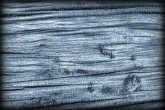 Старая выдержанная треснутая завязанная текстура Grunge Vignetted деревянных окисей кобальта деревенская грубая Стоковые Изображения RF