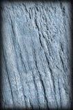 Старая выдержанная треснутая завязанная текстура Grunge Vignetted деревянных окисей кобальта деревенская грубая Стоковое Изображение