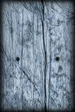 Старая выдержанная треснутая завязанная текстура Grunge Vignetted деревянных окисей кобальта деревенская грубая Стоковые Изображения