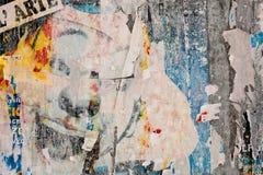 Урбанский конец стены плаката вверх стоковая фотография