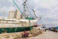 Старая гавань Джакарты, Ява, Индонезии стоковые изображения