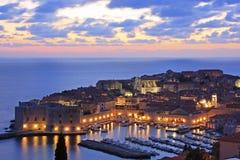 Старая гавань на Дубровнике, Хорватии стоковые фотографии rf
