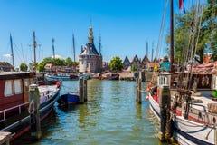 Старая гавань Hoorn Нидерландов стоковые фото
