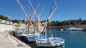 Старая гавань Tricase, Италии стоковые фотографии rf
