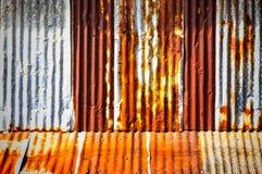 Старая гальванизированная сталь Стоковое Изображение