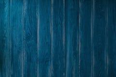 Старая голубая деревянная текстура с естественными картинами Стоковое Изображение